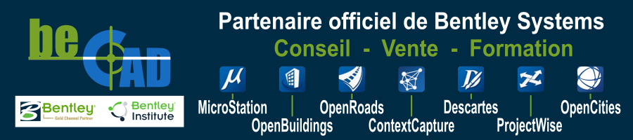 Bentley Systems ContextCapture Descartes Formations MicroStation OpenBuildings Designer OpenCities OpenRoads Designer Orbit GT Reality modeling  Programme des formations 2021