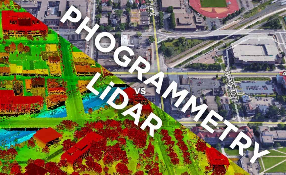 Photogrammétrie vs LiDAR
