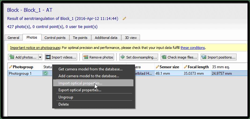 T&A ContextCapture Trucs et Astuces  Le modèle semble être courbé au lieu d'être horizontal après l'aérotriangulation dans ContextCapture